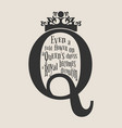 vintage queen silhouette motivation quote vector image vector image