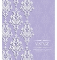 Violet Vintage Invitation Card with Floral vector image vector image