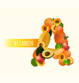 vitamin a image vector image vector image