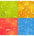 Water Drop Square Banner Set vector image vector image