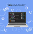 web development infographic programming and vector image vector image
