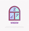 window thin line icon modern vector image