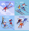 winter sports 2x2 design concept vector image