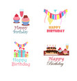 birthday logo design collection vector image
