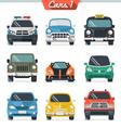 Car icon set 1 vector image