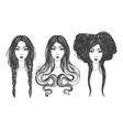 Women Tattoo art coloring books vector image