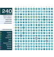 240 icons set vector image vector image
