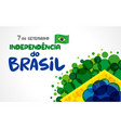 7 september brazil independence day banner vector image