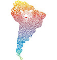 Abstract Jaguar on the map of South America vector image vector image