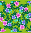abstract spring seamless pattern with floral green vector image vector image