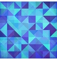 Abstract triangles blue background vector image vector image