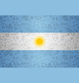 argentina flag background for russian soccer event vector image vector image