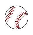 Baseball ball sign Colored icon vector image