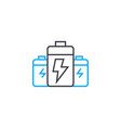 battery packs linear icon concept battery packs vector image
