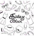 black friday sale hand lettering women clothing vector image vector image