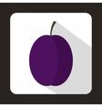 Blue plum icon flat style vector image