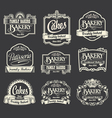 Calligraphic sign and label design set vector image vector image