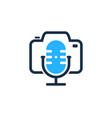 camera podcast logo icon design vector image