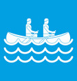 canoeing icon white vector image vector image