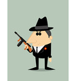 Cartoon gangster vector image vector image