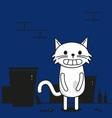 cat in street vector image vector image