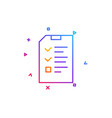 checklist document line icon file sign vector image vector image