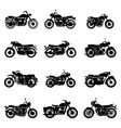 classic road vintage motorcycles vector image vector image