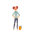 clown with a bucket of fish actor performing in vector image vector image