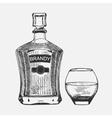 creative sketch brandy composition vector image vector image