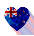 crystal gem jewelry flag of new zealand vector image