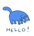 cute cat is happy and crooked vector image vector image