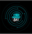 cyber monday sale background in circular style vector image