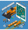 Data Mining Isometric Concept vector image vector image
