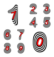 Design numbers set vector image vector image