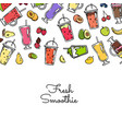 doodle colored smoothie drink background vector image vector image