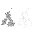 dotted contour map of great britain and ireland vector image