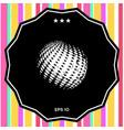 earth logo - grunge effect vector image