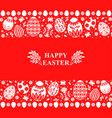 easter card with decorative eggs ornament vector image vector image