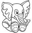 elephant toy vector image vector image