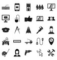 Endorsement icons set simple style vector image