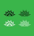 explosion icon black and white color set vector image vector image