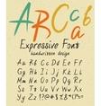 Expressive handwritten font design vector image vector image