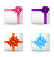 festive gift boxes set vector image vector image