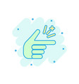 finger snap icon in comic style fingers vector image vector image