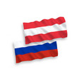 flags of austria and russia on a white background vector image