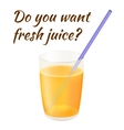 Fresh Juice vector image