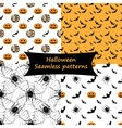 Halloween Seamless patterns Collection vector image