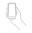 Hands Holding the Smart Phone vector image vector image