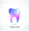 healthy tooth in trendy vibrant gradient vector image