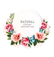 holiday background with beauty flowers vector image